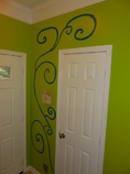 Custom interior paint design and murals